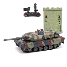 HUANQI 550B RC Tank Crawler IR Remote Control Toys 1:24 Scale Simulation Infrared RC Battle Tank Toy  RC Car gifts for kids