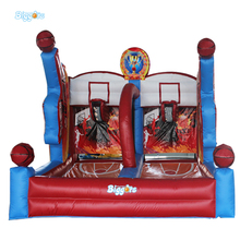 Kids Inflatable Soccer Basketball Goal Post Sport Games for Sale(China)