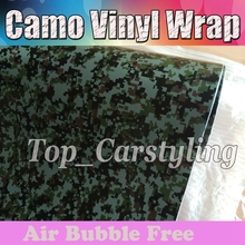 Military Digital Camo Vinyl Wrap Camouflage Film With Bubble Free For mosic Car Wrapping  Camo Graphics 1.52x30m/roll (5x98ft)