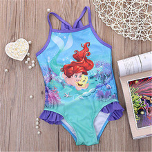 Cartoon Bathing suit girl baby swimwear Girl Baby swimming suit one piece kids set child Hot kids set for children clothes(China)