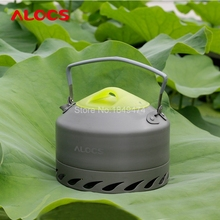 Alocs 0.9L Ultra-light Camping Survival Kettle Teapot Pot  Aluminum With Mesh Bag Hiking Camp Cook Set for Outdoor Water Kettles