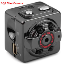 SQ8 Mini Car DVR Camera HD 1080P Camera Night Vision Mini Motion Detection Camcorder Class 10 Video Recorder Micro Car Camera(China)