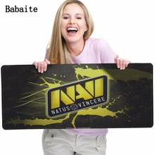 Babaite New Hot Natus Vincere Rubber Mouse pad Custom Design Printing Soft Non-Slip Durable Rectangle Big Mousepad Special Offer