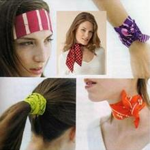 Outdoor Hiking Neck Arm Cooler Scarf Body Ice Cooling Wrap Tie Headband Towel camping Climing Headband Colour Random