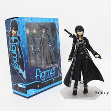 Free Shipping 15CM Anime Sword Art Online kirigaya kazuto Figma 174 PVC Action Figure Collectible Model Toy KT3875