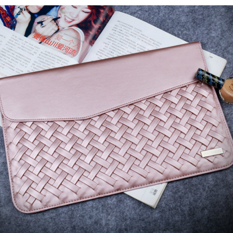 Weaving PU Leather Durable Luxury Case for Macbook Air 13 11 12 15 Minimalist Style Fashion Protective Case for Macbook Pro 13<br><br>Aliexpress