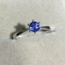 VS Sapphire ring 18K Gold Engagment Ring Corn Blue Gemstone Valentine gift for Girlfriend Student Promise Tiny(China)