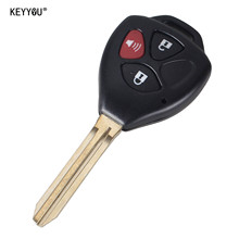 KEYYOU Remote Key Keyless Case 3 Buttons Shell Fit For Toyota 4Runner RAV4 Yaris Key Case Cover
