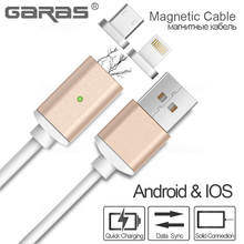 Magnetic Charger Adapter Cable For Iphone/Android Mobile Phone 2IN1 Magnet Mirco USB Cable For iPad/iphone/samsung Magnetic Wire