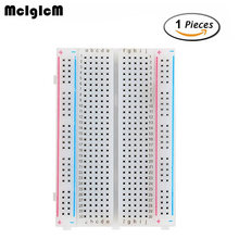 McIgIcM breadboard 400 points Solderless proto board 400 comtacts transparent protoboard(China)