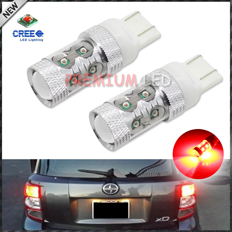 2pcs  Brilliant Red High Power 50W-Max 10-SMD CREE-XP-E 7443 7444 7440 T20 LED Replacement Bulbs For Car Brake/Tail Lights<br><br>Aliexpress