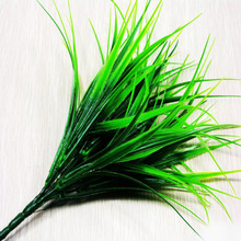 Green Plant Leaves Grass Decorative Flowers Artificial Flowers For Home Decoration Artificial Grass(China)
