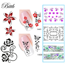 Buy Bittb 2 Sheets Nail Sticker DIY Nail Beauty Decal Various Flower Design Leopard Manicure Water Transfer Nail Art Decoration Tool for $1.05 in AliExpress store