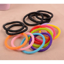hairband hair bands rope elastic telephone wire design for Women girl Hair Accessories headwear holder caterpillar shaped(China)