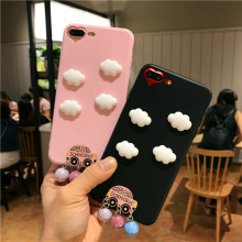 3D Cute Cloud School Bus Tassel Cases for Vivo Y55 Y66 Y67 Soft Silicone Tpu Cartoon Heart Hole Cover for Vivo Y55 Y66 Y67 Capas(China)
