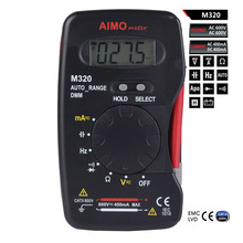 M108 AIMO M320 Mini Pocket Handheld LCD Digital Multimeter DMM Frequency Capacitance Measurement with Data Hold Auto Range(China)