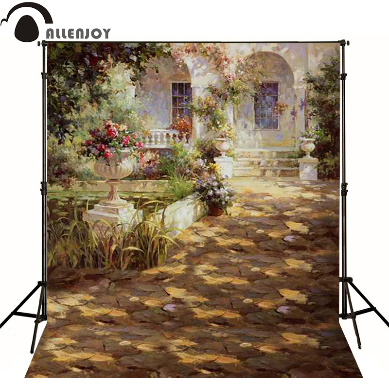 Allenjoy vinyl backdrops for photography Europe afternoon courtyard white walls photo background childern baby photoll princess<br><br>Aliexpress