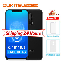 "Oukitel C12 Pro 4g 6.18 ""19:9 Android 8.1 Face ID 3300 mah MT6739 Quad Core 2 gb de RAM gb ROM 8MP + 5MP 16 Impressão Digital de Telefonia móvel(China)"