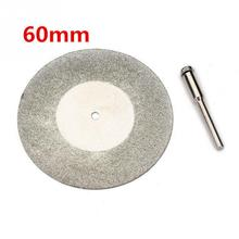 60mm Silver Diamond Grinding Wheel Grinding Slice Metal Cutting Disc For Rotary Tool With Arbor Shaft