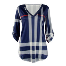 New  2017 Spring Autumn Tops Good Quality Women Sexy Casual Shirts Trendy Plaid Trends Printed Slim V-neck Vestidos(China)