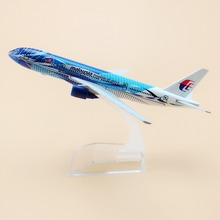 16cm Metal Air Malaysia Freedom Of Space Airlines Boeing 777 B777 Airways Airplane Model Plane Model Collections