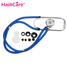 New Echometer Luxury Stainless Steel Echoscope Dual Head Auscultator Medical Doctor Stethoscope for Auscultation(China)