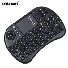 Mini Wireless Keyboard 2.4ghz English Air Mouse Keyboard Touchpad Remote Control For Android TV Box Notebook Tablet PC New Arriv(China)