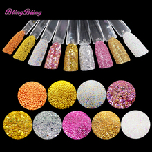 9 Boxes Nail Glitter Powder AB Crystal Glass Beads Acrylic UV Gel Nail Art Tips Manicure Decoration Pink Gold Clear Color Dust