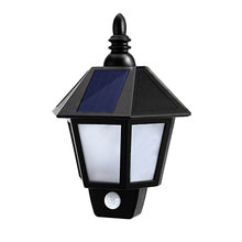Led Garden Solar Lamp Motion Sensor Solar Battery Powered Light Led Street Decoration Wall Lights PIR Outdoor Waterproof Lamps(China)