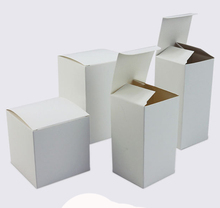 50 pcs Foldable white kraft Paper box Cardboard gift box ,Brown handmade soap paper boxes/candy gift box(China)