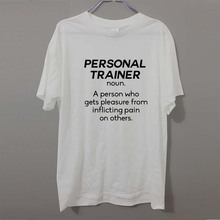 NOUN PERSONAL TRAINER Funny T-Shirts Men Brand Clothes Casual Fashion Short Sleeve Men's T Shirt