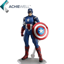 Marvel Avengers Characters Captain America Thor Action Figure Figma Models Movie Fan Collection Adult Gift Plastic Toys(China)