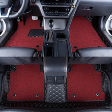 Car Floor Mats Covers grade anti-scratch fire resistant durable waterproof 6D leather mat for Toyota RAV4 Car Styling