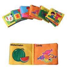 8 Pages Baby Toy Infant Sun Cloth Book Toys Shape Animal Number Doll Toy For 0-3Y Early Development Books Kids Gifts