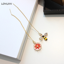 9 styles high quality ear line female Korea style personality fringed fashion simple cute cartoon animal Bee Earrings lover gift(China)