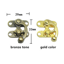 Wholesale Bulk Locks,Box Suitcase Toggle Latch Buckles Bronze Tone,Antique Style Metal Lock,Zinc Alloy Wooden Box Lock,29*33mm(China)