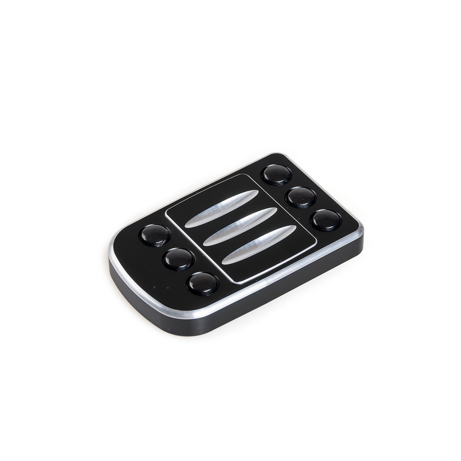 NICECNC Edge Cut Brake Pedal Pad Large Foot Pegs Step Plate For Harley Softail Dyna Touring Street Glide Road King Fat Boy CVO