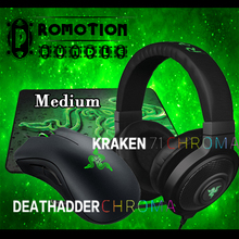 Razer Deathadder chroma Gaming Mouse+ Kraken Chroma Gaming Headset+ Gift Gaming Mousepad, Brand new in Stock,Free Shipping