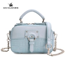 DAVIDJONES Women Crossbody bag lady serpentine Messenger teenager girls evening Purse female top-Hand handbag(China)