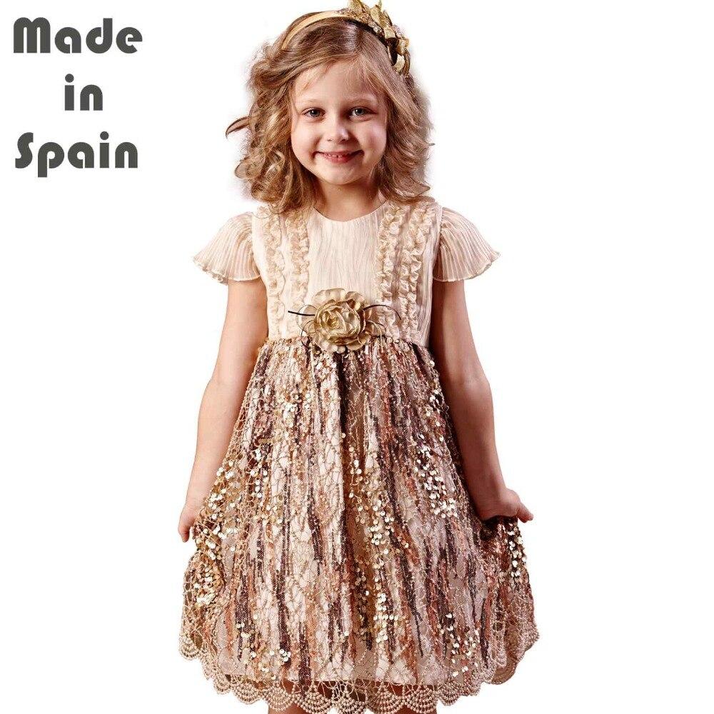 i-lollipop Luxury Flower Girl Dresses Children Clothes Kids Girl Dress Eden Pailette Sequins<br>