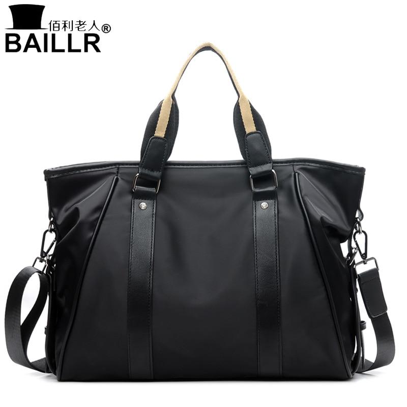 Brand Mens Travel Bag High Quality Nylon Briefcase Men Business HandBags Large Capacity Male Vintage Shoulder Messenger Bags<br>