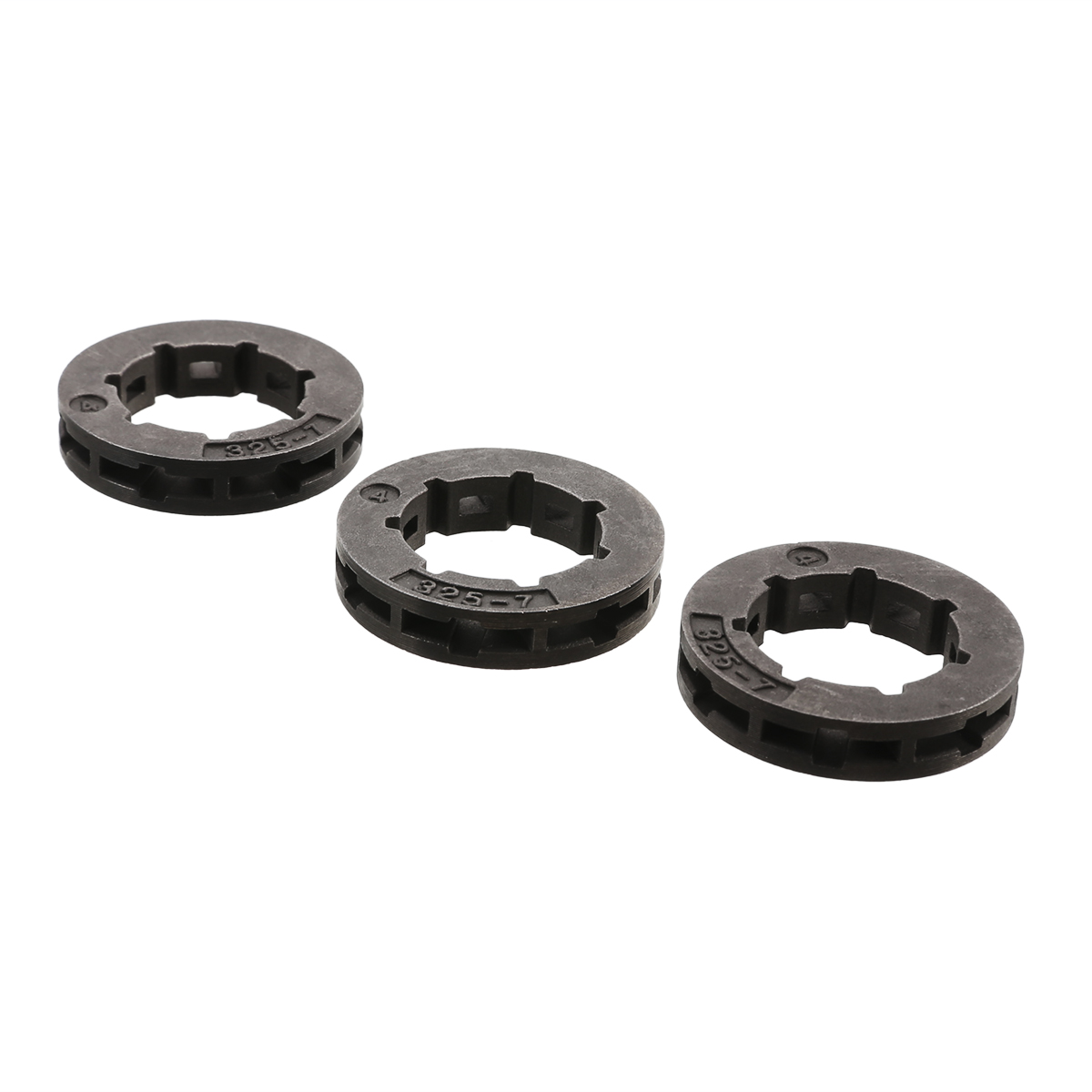 3pcs Tool Parts Metal Chainsaw Spare Part Chain Saw Sprocket Rim Power Mate 325-7 For Chainsaw Replacement