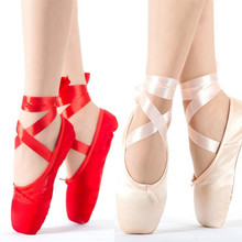 Buy Child Adult Ballet Pointe Dance Shoes Ladies Professional Ballet Dance Shoes Ribbons Shoes Woman for $12.19 in AliExpress store