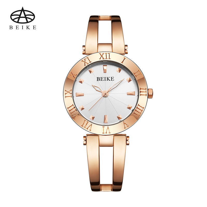 BEIKE Watch Women Waterproof Top Brand Quartz Watches Full Stainless Steel Rose Gold Clocks Classic Women Clock Montre Femme<br>