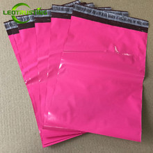 Leotrusting Gloss Pinkish Poly Mailer Express Bag Strong Adhesive Packaging Envelope Bag Mailing Plastic Gift Boxes Shipping Bag(China)