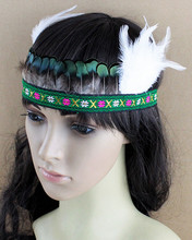 Free Shipping! Indian Style Headdress Lovely Feather Adult and Kids Headband Dress Prom Dance Party Headwear Hair jewelry