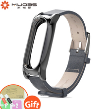 Buy Mijobs Mi Band 2 PU Plus Leather Strap Mi Band 2 Smart Watch Bracelet Screwless Wrist Bracelet Xiaomi Mi Band 2 Strap for $7.68 in AliExpress store