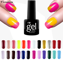 Verntion UV LED Gel Nail Polish 8ml Long Lasting UV Gel Polish lucky Colorful Art Pink Series in 29 Colors Soak off Gel Varnish