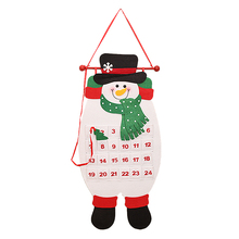 Best Christmas Decoration Calendar Countdown Nonwovens Calendar Christmas snowman(China)