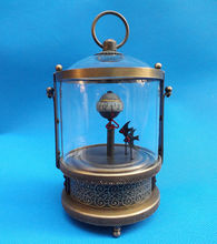 Rare brass Fish Mechanical Table Clock Decorations